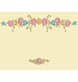 Card with drawing flowers vector image vector image