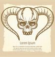 monsters skull on vintage background vector image vector image