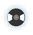 Vinyl record comics icon vector image