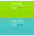 Ecology Green Energy Line Art Web Banners Set vector image