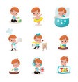 child activity vector image