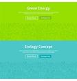 Ecology Green Energy Line Art Web Banners Set vector image