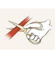 Hand with scissors vector image