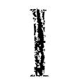 I Brushed vector image