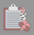 icon in flat design vegetable menu vector image