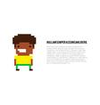 Pixel Guy vector image