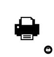 Printer simple black silhouette icon vector image