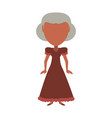 retro old woman cartoon vector image
