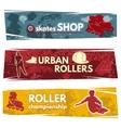 Roller Skates Horizontal Banners vector image
