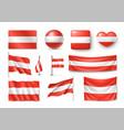set austria flags banners banners symbols flat vector image
