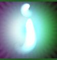 single light blue neon letter j of vector image