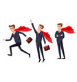 super businessman men cartoon vector image