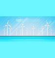 wind turbine energy renewable water station sea vector image