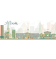 Abstract Athens Skyline with Color Buildings vector image vector image