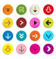 Arrows Colorful Arrow in Circle Set of Symbols vector image vector image