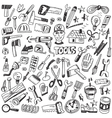 working tools - doodles set vector image vector image