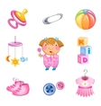 toys and accessories vector image vector image