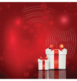 Gift box background vector image vector image