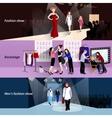 Fashion model catwalk banner set vector image