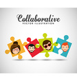 collaborative concept design vector image