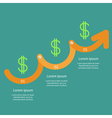 Timeline Infographic Dollar sign icon Three step vector image