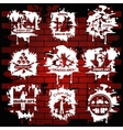 Graffiti White Emblems With Transparent Elements vector image