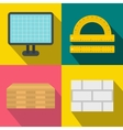 Construction banners set flat style vector image