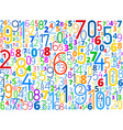 background from numbers vector image
