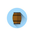beer barrel icon oktoberfest festival holiday vector image