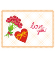 card love you vector image