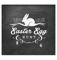 Easter Egg Hunt Typographical Text on Chalkboard vector image