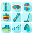 icon set of winter sport Flat design vector image