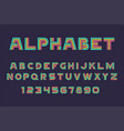 linear font and alphabet vector image