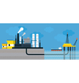 Oil Refinery Land and Offshore vector image