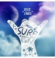 Surfing Design vector image