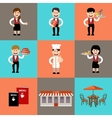 The service personnel in cafe and restaurants vector image