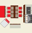 top view modern kitchen interior element vector image