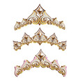 vintage jewelry diadems set vector image