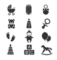 Baby kids icons set vector image vector image