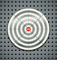 Target on steel background vector image vector image