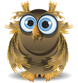 goggle eyed wise owl vector image vector image