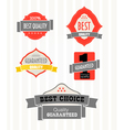 Vintage shopping labels and logo collection vector image vector image