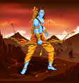 lord rama with arrow killing ravana vector image vector image