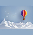 hot air balloon and cloud vector image vector image
