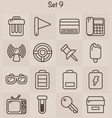 Outline Icons Set 9 vector image vector image