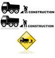 Construction sign vector image vector image