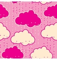 Rain clouds seamless background abstract vector image