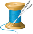 needle and thread vector image vector image