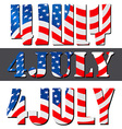 4th July American Independence Day vector image