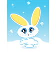 holiday bunny vector image vector image